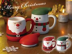 メリークリスマスフタ付きマグカップ