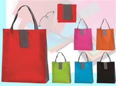 色指定可能 携帯用ツートントートバッグ