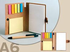 付箋とペン付きメモ手帳