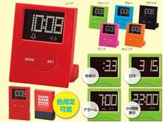 【色指定可能】ドット柄多機能置時計