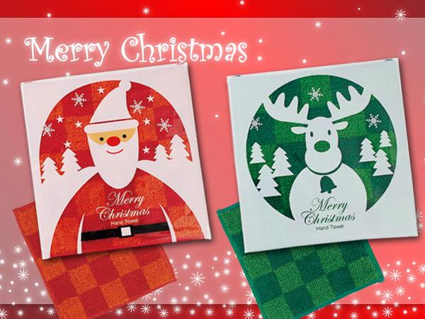 毎年大人気のクリスマス用ハンカチ説明イメージ