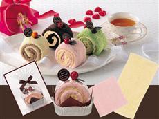 プチギフトとして人気の4色ケーキ風タオル