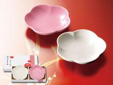 紅白小皿2枚セット