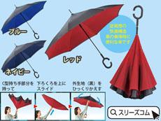 逆さに畳む濡れにくい傘