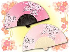 桜の花の扇子