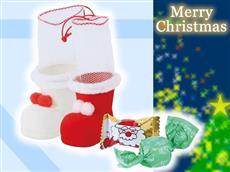 小さなポムポムクリスマスブーツ