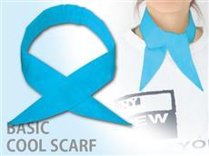 青1色冷え冷えクールスカーフ